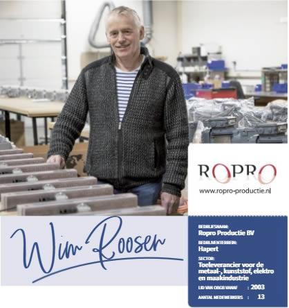 Foto Wim Roosen in zijn werkplaats